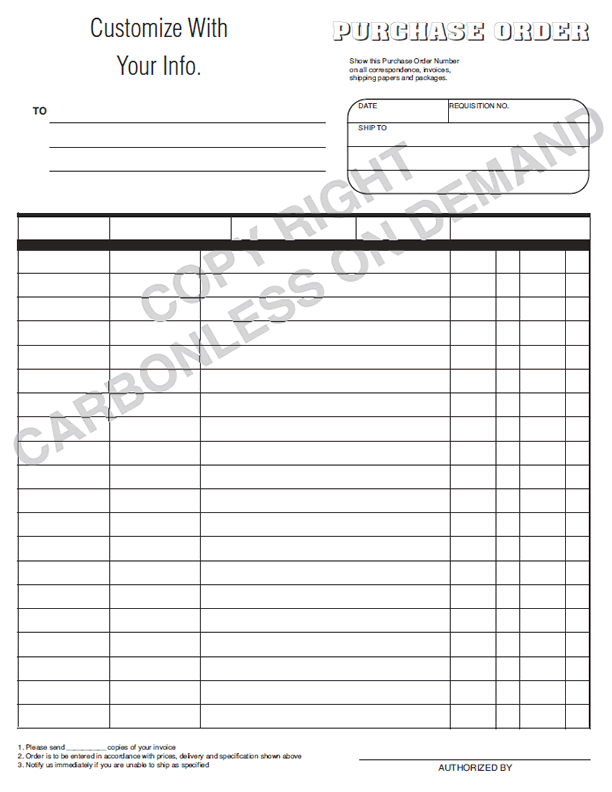 Amazing Carbonless On Demand On Blank Forms Templates