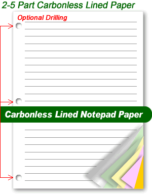 2-5 Part Carbonless Lined Paper
