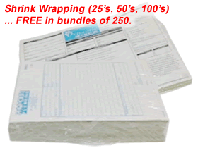 Carbonless NCR Forms Shink Wrapping
