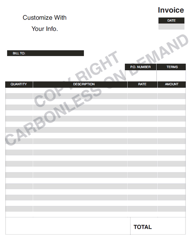 Carbonless Forms Templates - Personalized invoice template