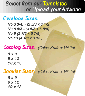 Custom Catalog and Booklet Envelopes Printing Sizes