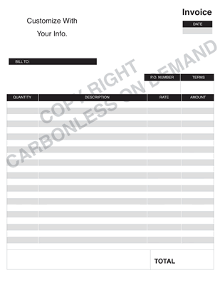 Carbonless Forms - Template 01 Invoice