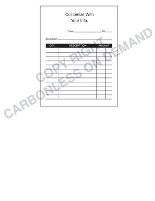 Carbonless Forms - Template 11 Receipt