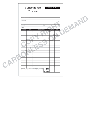 Carbonless Forms - Template 12 Invoice