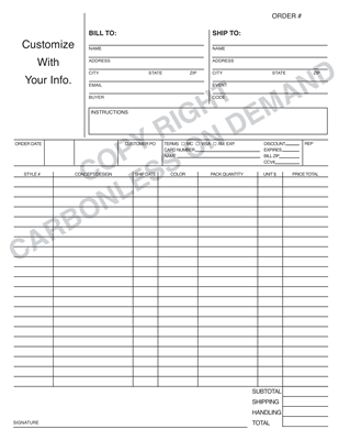Carbonless Forms - Template 03 Order