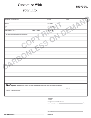 Carbonless Forms - Template 05 Proposal