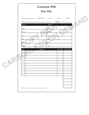 Carbonless Forms - Template 06 Receipt