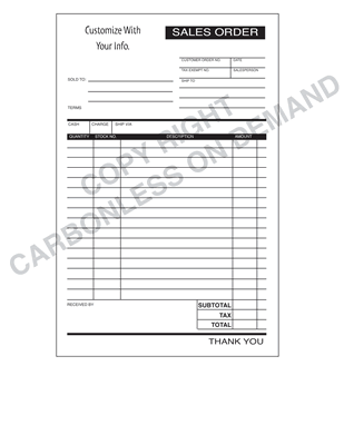 Carbonless Forms - Template 08 Sales Order