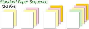Carbonless Forms Standard Form Sequence