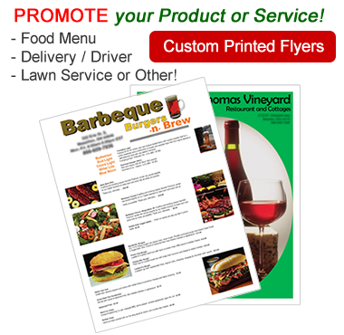 Custom Printed Flyers