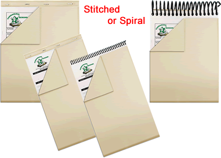 Stitched and Spiral Wraparound Cover Carbonless Forms
